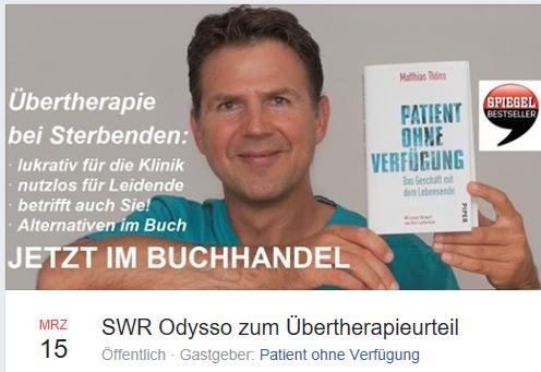 SWR Odysso zum Übertherapieurteil -Übertherapie bei Sterbenden.